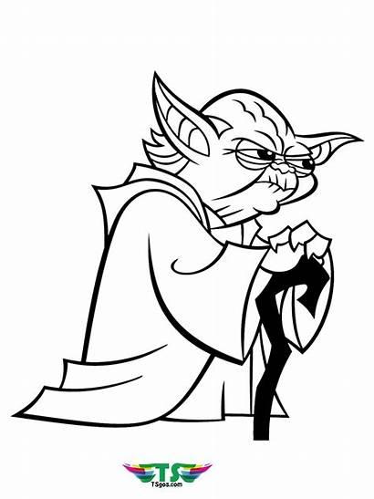 Yoda Coloring Wars Star Master Pages Tsgos
