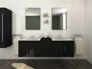 Ensemble De Salle De Bain Avec Double Vasque Et Miroir