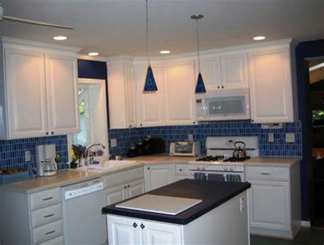blue tile backsplash kitchen light blue kitchen backsplash home design ideas