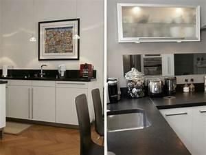 decoration cuisine noir et blanc conseils pour la reussir With cuisine equipee noir et blanc