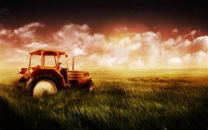 Farm Field Background Tractors Wallpapers Desktop Fields