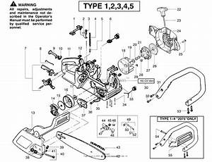 Poulan 2075 Gas Saw Type 5 Parts Diagram For Handle