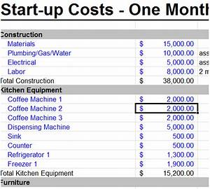 startup business budget template excel With budget template for startup business