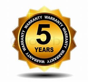 Gold Vector Guarantee Sign  Warranty Label