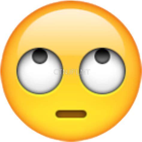 quot eye rolling emoji quot stickers by ctnjflmt redbubble