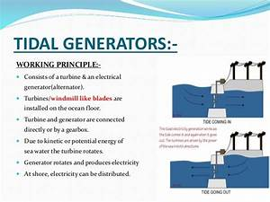Tidal Generaters How Do They Work