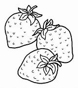 Strawberry Coloring Strawberries Pages Fruits Drawing Fruit Colouring Momjunction Drawings sketch template