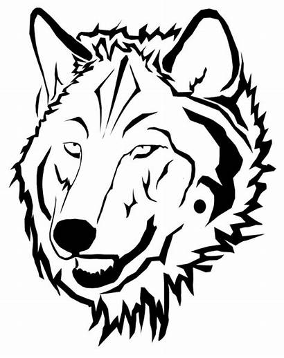 Wolf Outline Face Head Coloring Drawing Pages