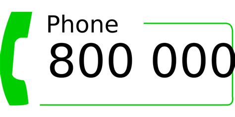 phone numbers free vector graphic phone number call toll