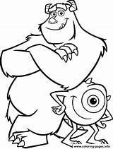 Cartoon Coloring Monster Printable sketch template
