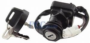 Ignition Key Switch Kawasaki Ksf450 Kfx450r Kvf300 360 400 Atv