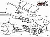 Coloring Sprint Dirt Race Cars Drawing Colouring Drawings Late Racing Printable Template Clipart Sketch Track Sheets Sprintcar Getdrawings Blank Wingless sketch template
