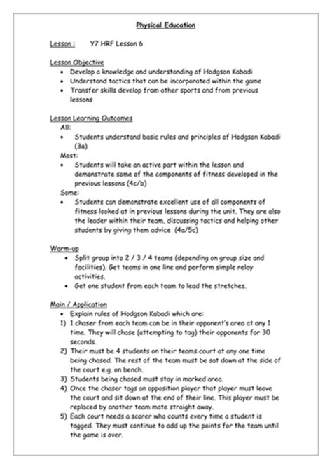 year 7 health related fitness by pegan1 teaching