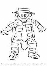 Hamburglar Draw Drawing Step Mascots Tutorials sketch template