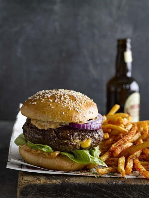 fries french burgers air fried stuffed cheddar recipes food burger recipe fry hamburger gourmet sonoma williams beef drink