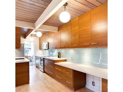 mid century modern kitchen backsplash modern kitchen with modwall tiles kitchen mid century 9162