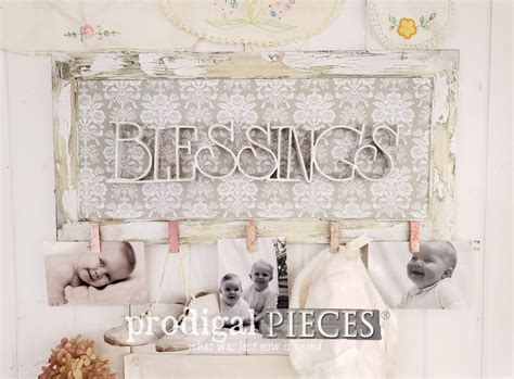 Blessings Home Decor: Blessings Photo Holder Wall Art