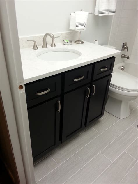 The Vanity by White Guest Bath Remodel Diy Projects