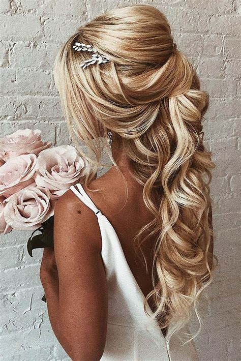 45 Perfect Half Up Half Down Wedding Hairstyles Wedding