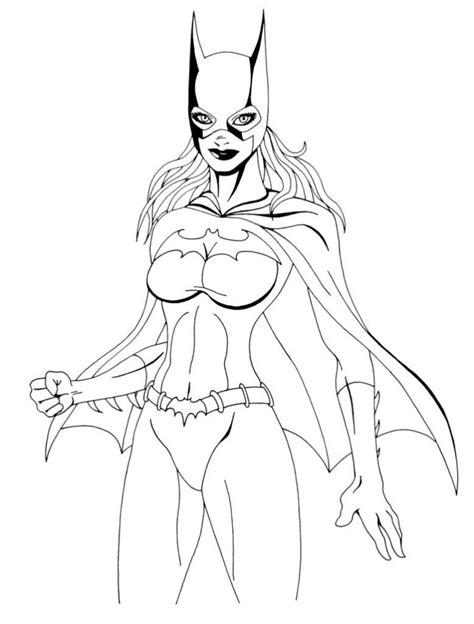 desenho de batgirl  colorir tudodesenhos
