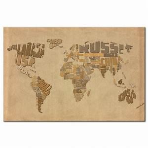 Carte Du Monde à Gratter Maison Du Monde : tableau ancienne carte du monde ~ Teatrodelosmanantiales.com Idées de Décoration