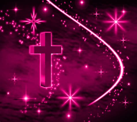 Pink Animated Wallpaper - pink cross with background 1800x1600 background