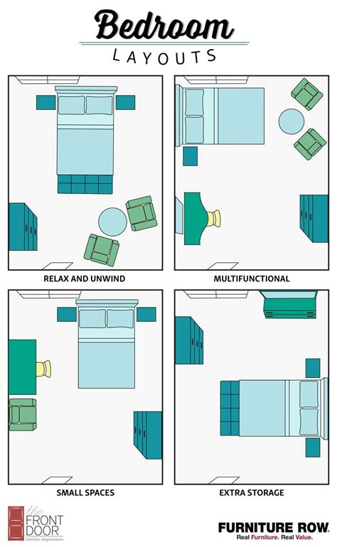 bedroom layout guide small spaces layouts  storage