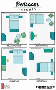 Bedroom layout guide small spaces layouts and storage for Layout for 4 bedroom house