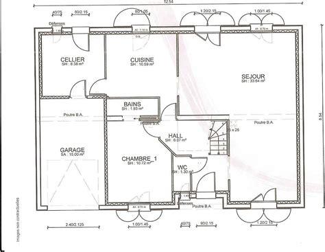 plan de maison gratuit 4 chambres cuisine plan maison moderne simple plan maison simple 2