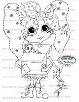 Secret Message Box Stamp Besties Digi Instant Dolls Create Mybestiesshop P5675 sketch template