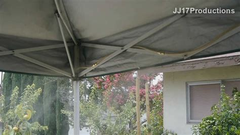 diy orbit mister install  ez  canopy drop  temp   cool mist youtube