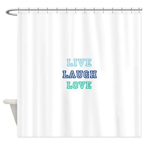 live laugh love Shower Curtain by IntelliPixel