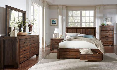 piece meadow solid wood storage bedroom set  modus