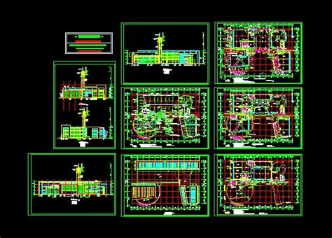 student activity center construction drawings autocad