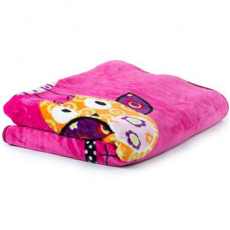 coperte per coperta per bambini gufo rosa fucsia tapetto24