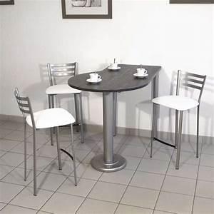 table de cuisine en stratifie hauteur snack 90 cm luros With hauteur table de cuisine