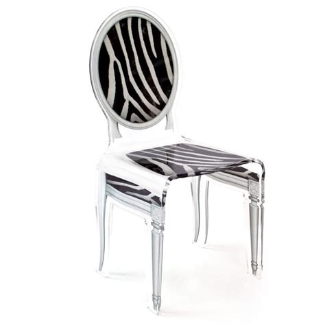chaise zebre chaise sixteen zebre acrila