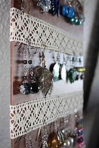 Idée Rangement Bijoux : 27 id es de rangement pour vos bijoux les meilleures astuces de rangement earring hanger ~ Melissatoandfro.com Idées de Décoration