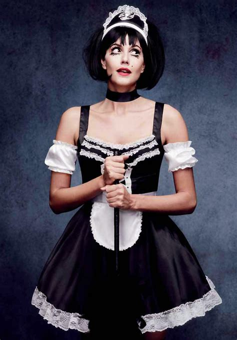 flirty french maid halloween costume