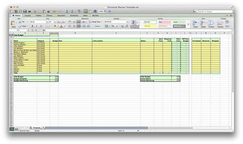 holiday spreadsheet db excelcom