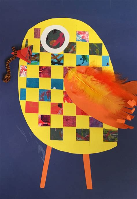 woven paper animals art lesson plan kinderartcom