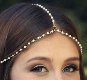 CHAIN HEADPIECE- chain headdress head chain - LovMely