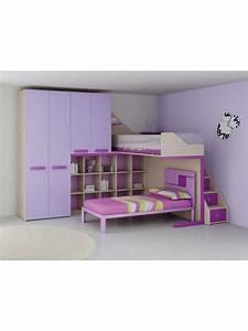 Barriere Lit Superposé : lit mezzanine pour la chambre ado prix fun so nuit ~ Premium-room.com Idées de Décoration