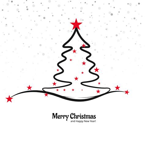 merry christmas tree vector beautiful merry christmas tree background download free vector art stock graphics images