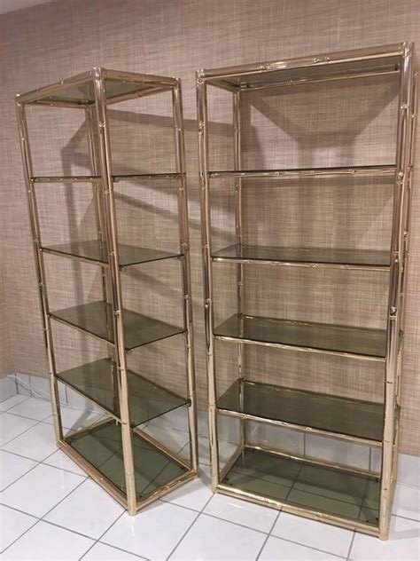 Glass Shelf Etagere by Beautiful Brass Etagere Glass Shelves Iz61