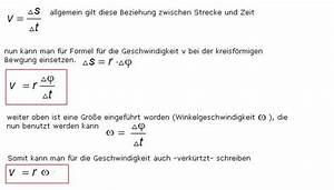 Zurückgelegte Strecke Berechnen : gleichf rmige kreisbewegung ~ Themetempest.com Abrechnung