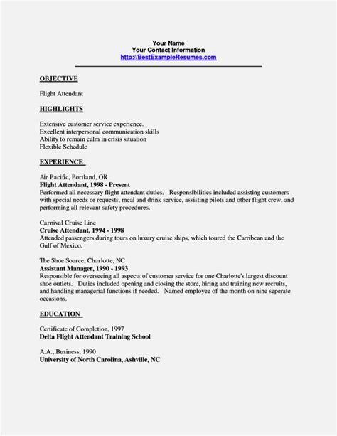 entry level flight attendant resume resume template cover letter