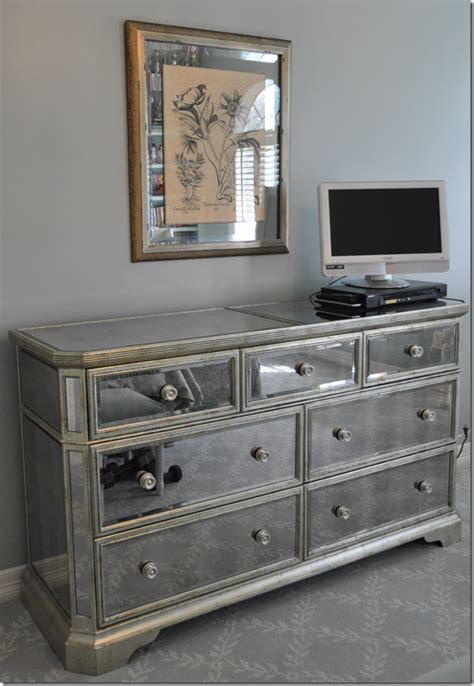 Z Gallerie Mirrored Dresser by Cote De A S Bedroom