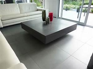 Tables Basses Haut De Gamme : table basse design en b ton h lium table design en b ton cir ~ Dode.kayakingforconservation.com Idées de Décoration