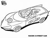 Coloring Speed Racer Speeding sketch template